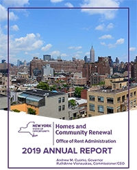2019 Rent Annual Report Cover